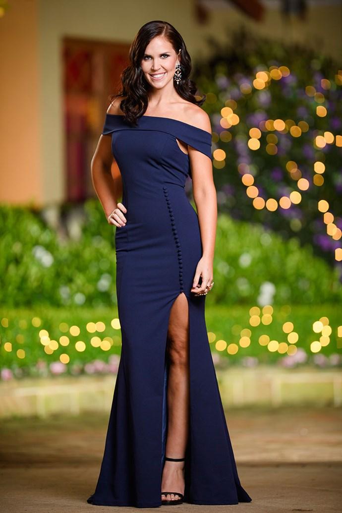 **Monica** <br><br> Dress: [Giselle & Sophia](https://www.giselleandsophia.com.au/) @ [white runway](https://whiterunway.com.au/) <br><br> Shoes: [Novo Shoes](https://www.novoshoes.com.au/) <br><br> Earrings, Bracelet & Ring: [House of Emmanuele](http://houseofemmanuele.com/home)