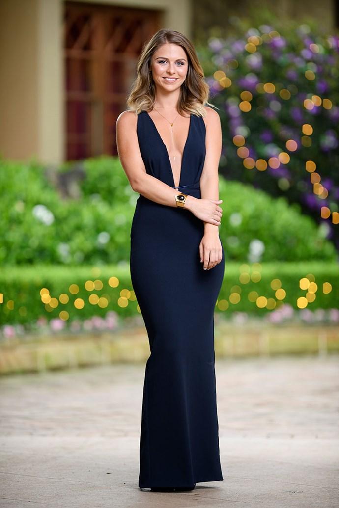 **Tara** <br><br> Dress: [Natalie Rolt](https://www.natalierolt.com/) <br><br> Shoes: [Novo Shoes](https://www.novoshoes.com.au/)  <br><br> Earrings, Bracelet & Necklace: [Kerry Rocks](https://www.kerryrocks.com.au/)