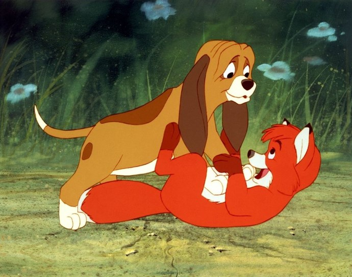 **1981: *The Fox and the Hound***  The sweet story of Tod and Copper was essentially *Romeo and Juliet* with more fur. It's a real tear-jerker that doesn't pull its punches, giving us one of the most melancholy endings in the Disney animated canon.