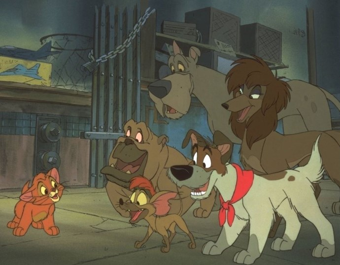 **1988: *Oliver & Company***  This, erhm, twist on Charles Dickens' *Oliver Twist* takes the story to New York with a cast of lovable, if not particularly memorable, street animals. It's probably best recalled for its Billy Joel anthem, 'Why Should I Worry,' which we hear they love at the Chelsea and they adore at the Ritz.