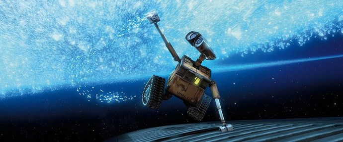 **2008: *Wall-E***  Name a more iconic duo than WALL-E and EVE. The mesmerising journey of a small, trash-collecting robot features a beautiful love story and a damning lesson about how poorly we treat our planet. Much of the film is also dialogue-free, making its widespread box office success all the more impressive.