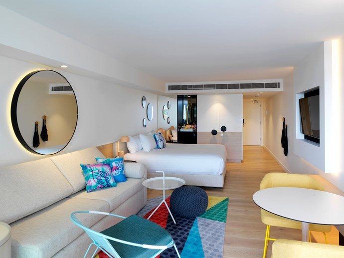 **[QT Bondi](https://www.qthotelsandresorts.com/bondi-beach/)** <br> <br> Right by the beach in Bondi, you've got the city's sister QT. Colour, the beach and your best gals – it just goes together. Party into the evening and chill by the beach the rest of the weekend. Nothing soothes a hangover like a dip in the ocean. Salt fixes everything, you know.