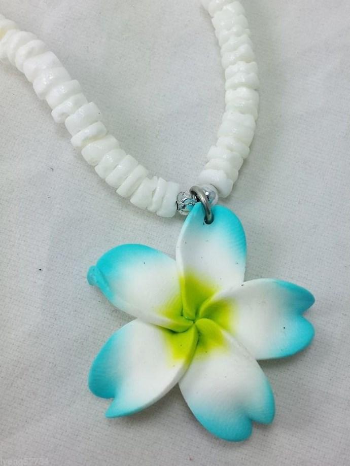 **The Frangipani Shell Necklace**