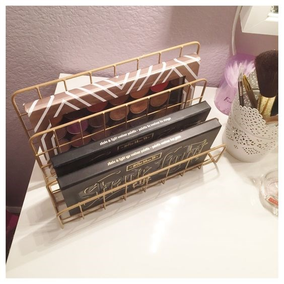 **The file dividers** <br> <br> Replace important documents with v important makeup palettes.  <br> <br> *[Pinterest](https://au.pinterest.com/pin/345792077625376880/)*