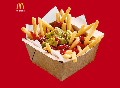 **The Loaded Fries at McDonald's** <br> <br> Make sure it's the salsa and guac version.