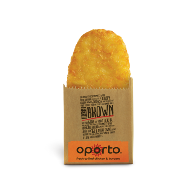 **The Hash Browns at Oporto**<br> <br>  YUM.