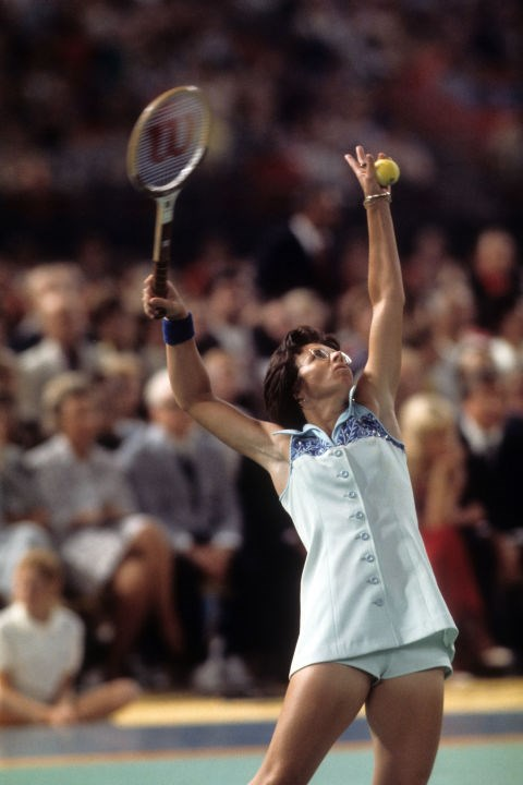 "**BILLY JEAN KING BEATS BOBBY RIGGS** <br><br> In 1973, pros Billy Jean King and Bobby Riggs faced off in a tennis game that became known as ""The Battle of the Sexes."" Fifty million people in the U.S. and 90 million worldwide watched 29-year-old King play against 55-year-old Riggs at the Houston Astrodome. At stake? A winner's prize of approx. $127,000. King made a stunning comeback after falling behind during the first set. She won all three sets, winning 6 to 3 in the third set. Female tennis plays are now more accepted, but similar ""Battles of the Sexes"" have taken place since King bested Riggs, including in 2013 when Chinese tennis pro Li Na beat Novak Djokovic 3-2."