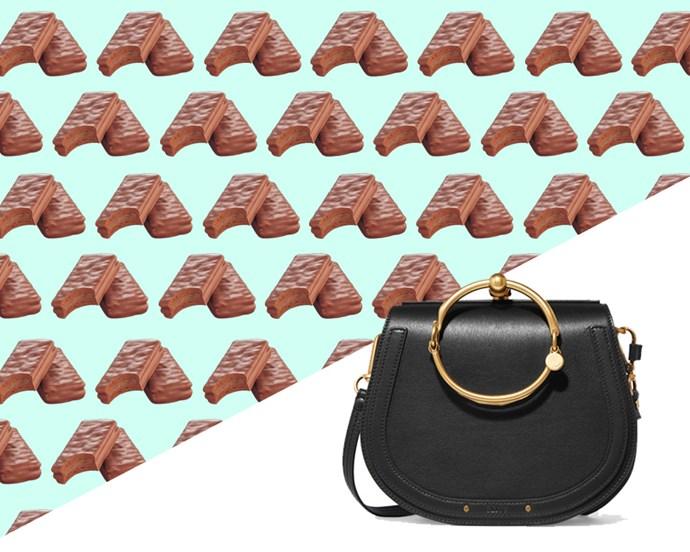 Chloé Nile Bracelet Shoulder Bag, $1,796.16 from [Net-A-Porter](https://www.net-a-porter.com/au/en/product/856059/chloe/nile-bracelet-small-leather-shoulder-bag)... <br> <br> …*Or* 5,442 Original Tim Tams.