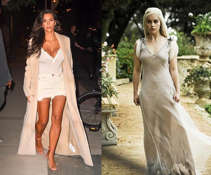 """Kim Kardashian = 1.60m, 5'2"""" / Daenerys Targaryen = 1.57m, 5'1"""""""