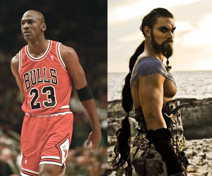 """Michael Jordan = 1.98m, 6'4"""" / Khal Drogo = 1.93m, 6'3"""""""