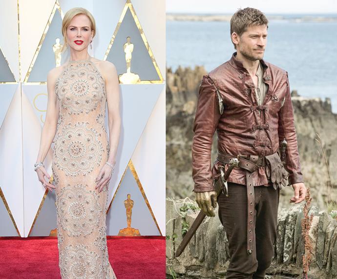 """Nicole Kidman = 1.8m, 5'9"""" / Jaime Lannister = 1.87m, 5'10"""""""