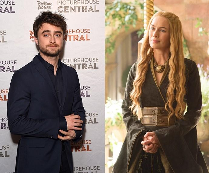 """Daniel Radcliffe = 1.65m, 5'5"""" / Cersei Lannister = 1.66m, 5'5"""""""
