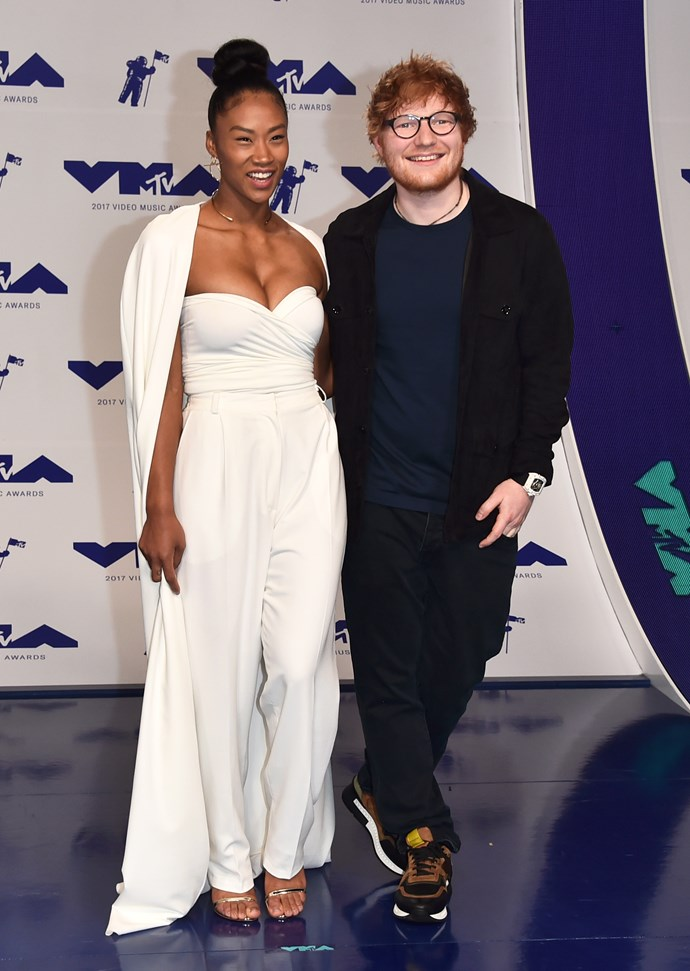 Jennie Pegouskie and Ed Sheeran.