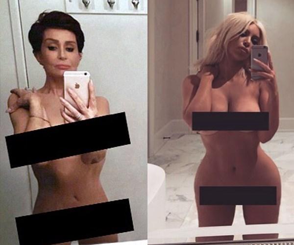 Sharon Osbourne Kim Kardashian nudes