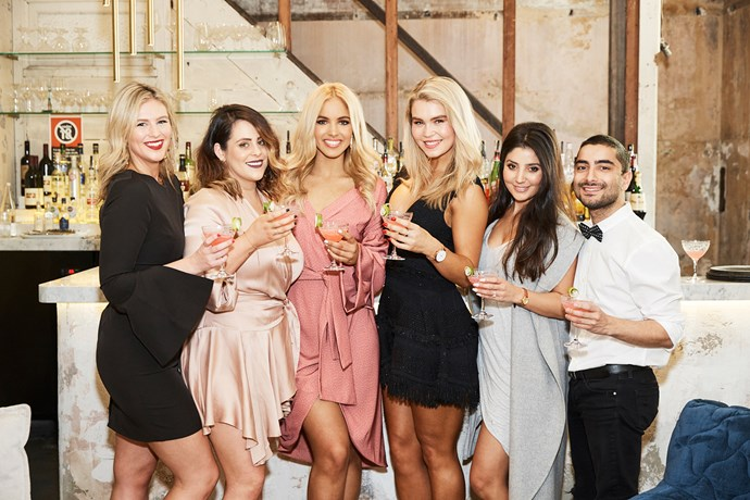 Team *Cosmo* with Olivia and Simone.