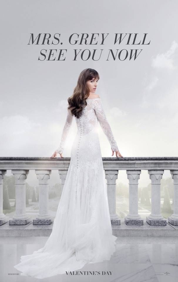 "Anastasia Grey's (!!!) wedding dress has been revealed in its full, beautiful glory in the just-dropped [*Fifty Shades Freed* trailer](http://www.cosmopolitan.com.au/lifestyle/fifty-shades-freed-trailer-24011|target=""_blank""), and here's a close-up of the goods. Those Kate Middleton-esque lace sleeves? The off-the-shoulder detail? Those tumbling waves? LOVE."