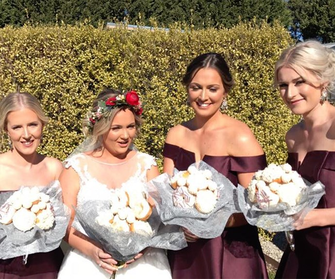 Sydney bride doughnut wedding bouquet