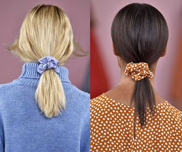 **Scrunchies** <br><br> Are scrunchies back? According to Mansur Gavriel, the answer is a resounding *yes!* Carrie Bradshaw would have a thing or two to say about this trend.