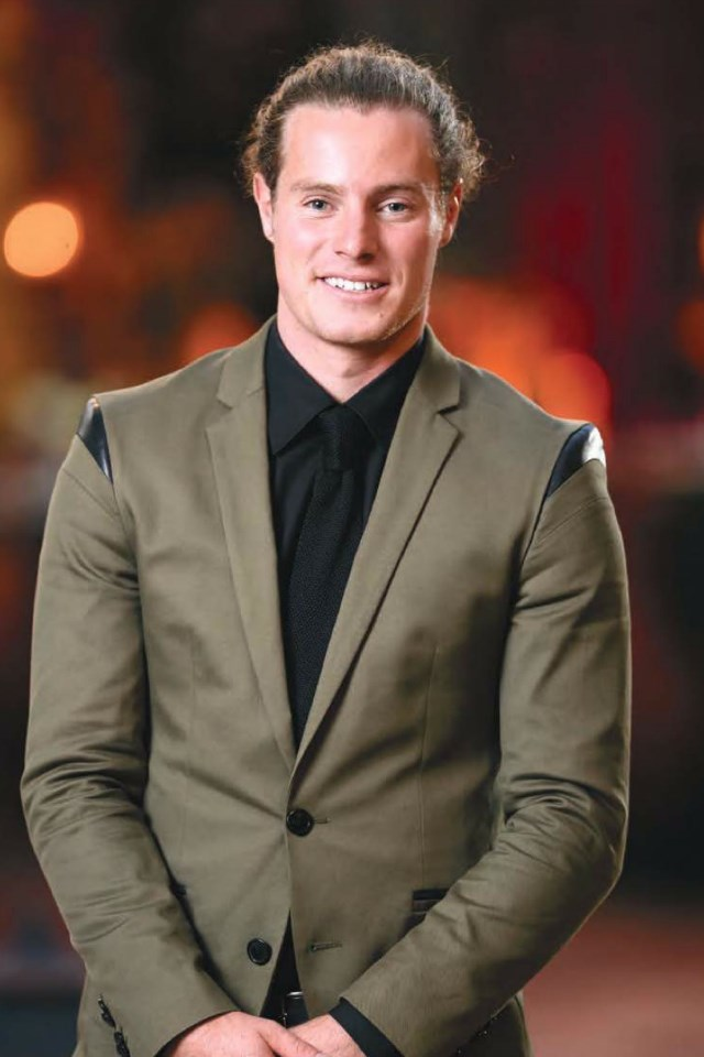 "**Harry**  Harry, 24, is a **restaurant manager** from **South Australia** who enjoys surfing and the outdoors. His dream wedding would be on the beach ""with family, friends and great speeches."""