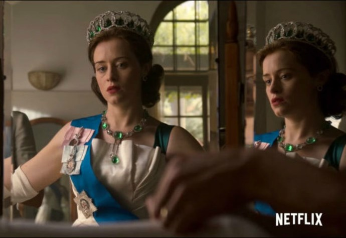 Claire Foy as Queen Elizabeth.