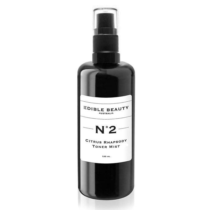 This skin spritz is full of summery vibes. Packed with fig, bilberry and calendula, it's super hydrating and helps soak up excess shine and reduce enlarged pores. Plus it's seriously soothing if your skin's all hot and bothered from the heat. <br><br>[Edible Beauty N°2 Citrus Rhapsody Radiance Tonique, $42](https://www.sephora.com.au/products/edible-beauty-no-2-citrus-rhapsody-tonique-100ml/v/default)