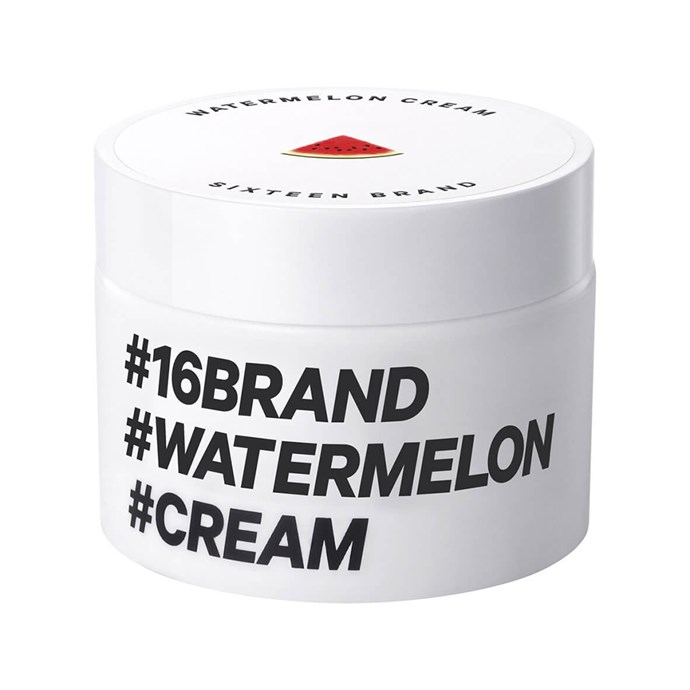 This gel-cream moisturiser legit looks exactly like a slice of watermelon. Probs 'cause it's 35 percent watermelon extract. It's lightweight, fast-acting and *super* juicy — the ideal skin drink after a night out with the girls.  <br><br>[16 Brand Watermelon Cream, $29](http://www.mecca.com.au/16-brand/watermelon-cream/I-027690.html)