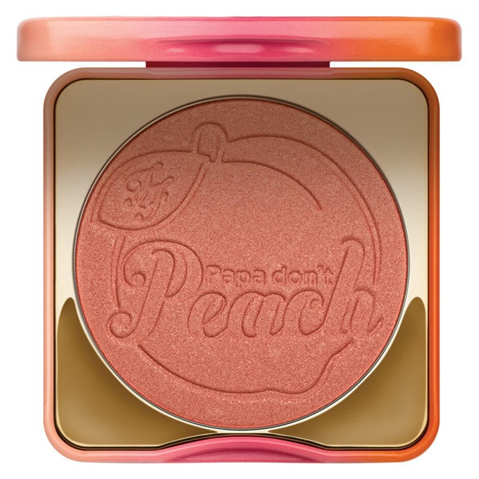 A blusher that smells like peaches and gives a nod to our fave Madonna song? Ded. The bronzey-peach colour looks good on everyone, too. <br><br>[Too Faced Papa Don't Peach Peach-Infused Blush, $44](http://www.mecca.com.au/too-faced/papa-dont-peach-peach-infused-blush/I-025951.html)