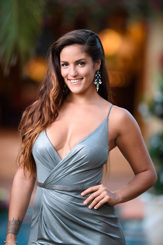 **Elora Murger** <br> <br> She was the certified sex pot of [Matty J's season](http://www.cosmopolitan.com.au/bachelor/matty-j-the-bachelor-australia-fun-facts-23333) of *The Bachelor*, after her saucy fire-breathing entrance into the first cocktail party. Following that she became particularly hooked on Mr Matty and shortly after she was eliminated, she reached full blown 'crazy ex-girlfriend' status when she burned all the date cards and roses she had been given in a massive 'Fuck you Matty J' snapchat video. She would certainly bring the ~drama~ in *Paradise*.