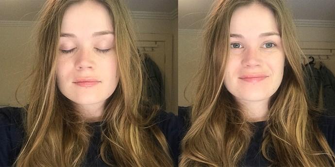 Before eyelash extensions.