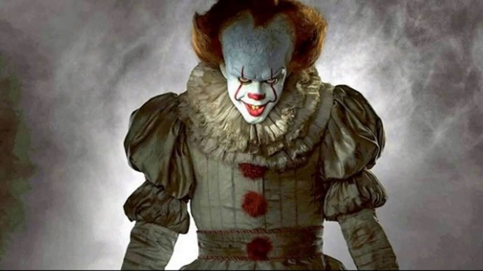 1. Pennywise, the hella creepy clown from *IT* took out the top spot and we're already dreading the parties.