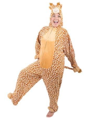 Giraffe Costume, $50 at [Costume Box](https://www.costumebox.com.au/giraffe-full-body-adult-costume.html)