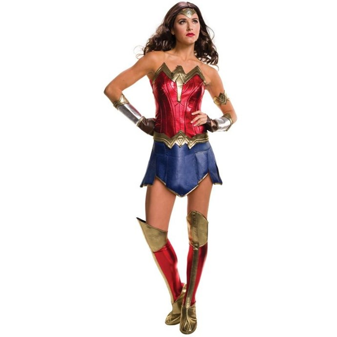 Wonder Woman Costume, $77 at [Costume Box](https://www.costumebox.com.au/wonder-woman-secret-wishes-deluxe-womens-costume.html)