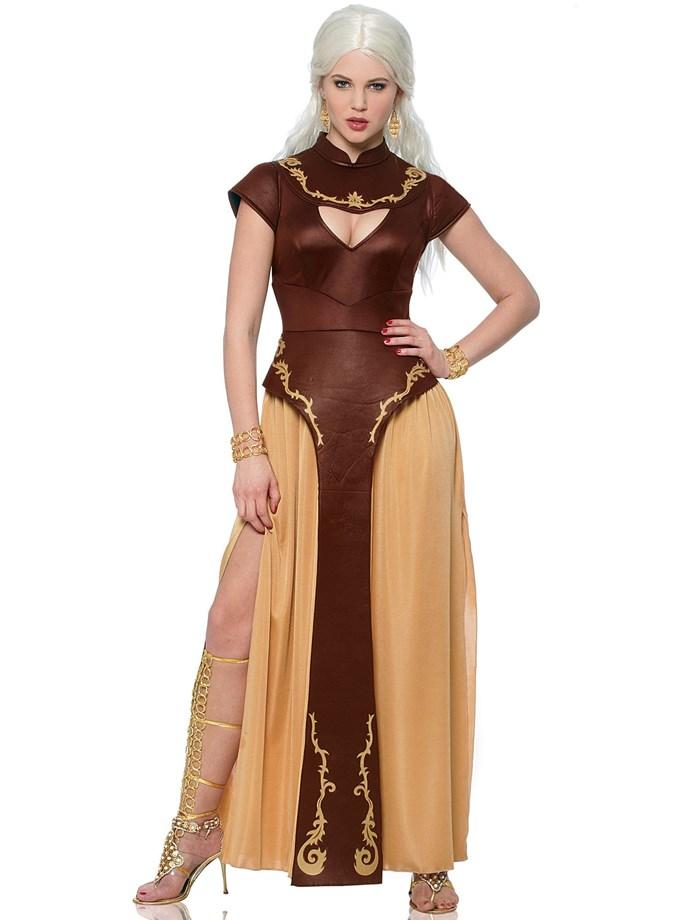 Daenerys Targaryen Costume, $77 at [Costume Box](https://www.costumebox.com.au/game-of-thrones-barbarian-warrior-womens-costume.html)