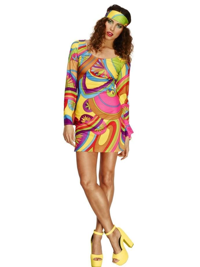 Hippie Costume, $36 at [Costume Box](https://www.costumebox.com.au/60s-flower-power-womens-costume.html)