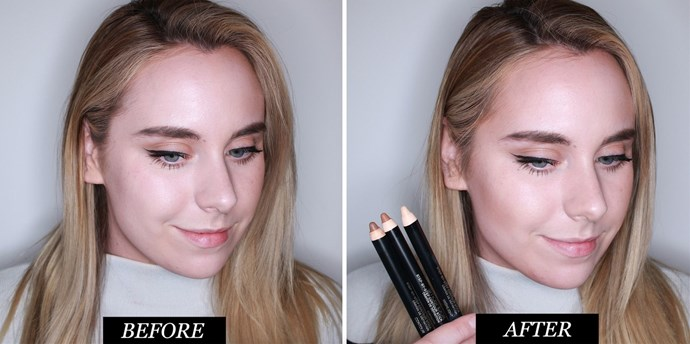 **Smashbox Contour Stick Trio <br> Best contour kit for precision**<br><br> These three crayons are super-slim, which makes them ideal for both precise contouring around the nose, or for building up under cheekbones and the jawline.  There's a bronze pencil, which I blended along the cheeks, forehead, and bridge of my nose. A contour pencil, which I blended below my cheekbones, along my jawline, and finally a highlight pencil, for adding light to the high points of my face. <br> <br> *Smashbox Contour Stick Trio, $66 at [Mecca]( http://www.mecca.com.au/smashbox/contour-stick-trio/I-020906.html)* <br><bR> **Rating: 8/10**