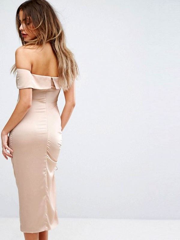 Dress, $135 at [ASOS](http://www.asos.com/au/lavish-alice/lavish-alice-satin-ruched-one-shoulder-midi-dress/prd/8106768?clr=mink&SearchQuery=&cid=8799&pgesize=204&pge=1&totalstyles=3263&gridsize=3&gridrow=8&gridcolumn=1)