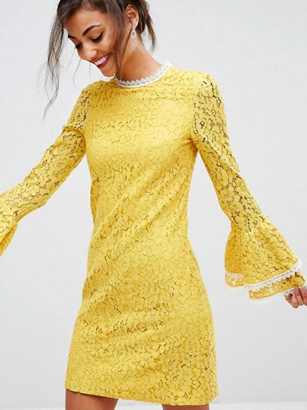 Dress, $139 at [ASOS](http://www.asos.com/au/little-mistress-tall/little-mistress-tall-all-over-contrast-shift-dress-with-fluted-sleeve-detail/prd/8785730?clr=ochre&SearchQuery=&cid=15369&pgesize=204&pge=0&totalstyles=333&gridsize=3&gridrow=23&gridcolumn=1)