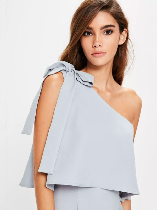 Dress, $64 at [Missguided](https://www.missguidedau.com/grey-crepe-one-shoulder-bow-sleeve-midi-dress)