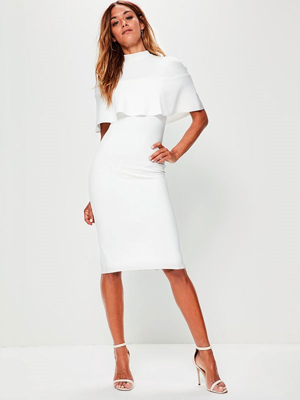 Dress, $51 at [Missguided](https://www.missguidedau.com/white-frill-overlay-shoulder-midi-dress)