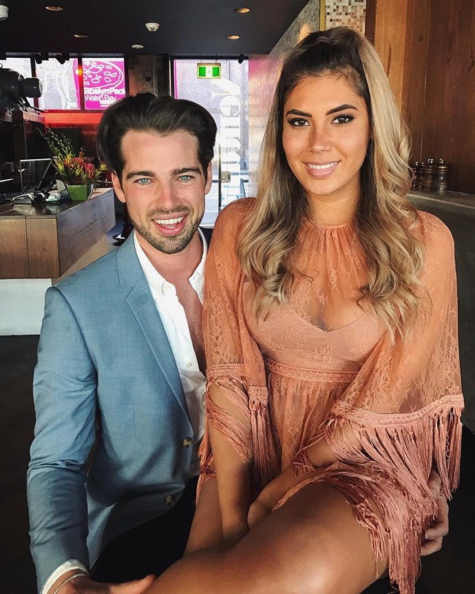 "**Sam Johnston and Noni Janur** <br><br> Shortly after Sam (*The Bachelorette* 2016) was eliminated from the show, he was caught in pap photos [kissing Noni](http://www.cosmopolitan.com.au/bachelor/noni-janur-and-sam-johnston-dating-20550) from Richie's season (*The Bachelor* 2016). Noni [eventually confirmed](https://www.instagram.com/p/BQfAajHAPt1/?taken-by=nonijanur) the two were dating on Instagram, when she posted one of the pap shots and wrote, ""Little did I know I was on the wrong show. But maybe I came out the winner after all. In this weird, crazy world somehow I got to meet you. Happy Valentine's Day @samuelrjohnston."" The two often hit the Sydney social scene together."