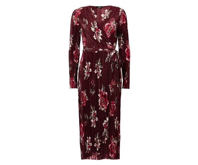 "Dress, $79.95, [Sportsgirl](http://www.sportsgirl.com.au/clothing/dresses/floral-crinkle-midi-dress-wine|target=""_blank""|rel=""nofollow"")"
