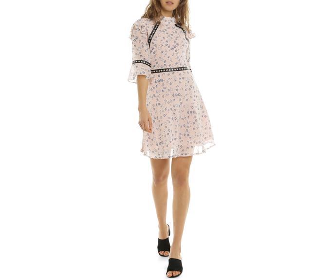 Dress, $109.95, [Myer](https://www.myer.com.au/shop/mystore/blush-ditsy-lace-dress-540345970)