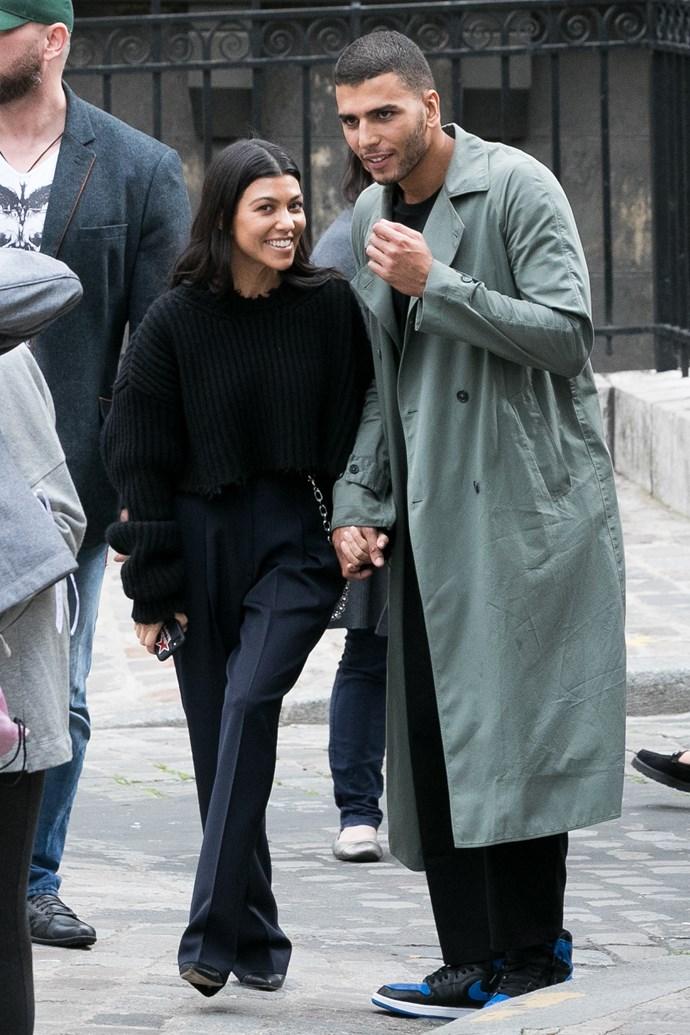 Kourtney Kardashian and Younes Bendjima in Paris.