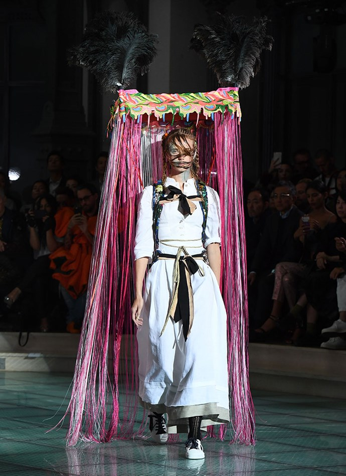 Y'know how in bad dreams you're normally standing naked in front of a bunch of people? Well, wearing this (even in a dream) is officially worse than that. <br><br> At Vivienne Westwood SS/18