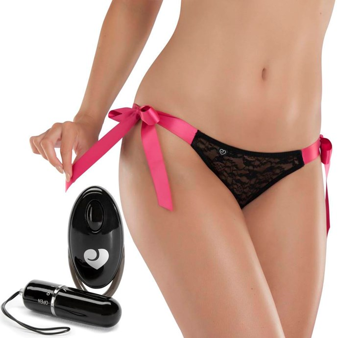 **Hot Date 10 Function Remote Control Vibrating Knickers**, $64.95 from [Lovehoney](https://www.lovehoney.com.au/product.cfm?p=32755). <br> <br> These are the kinkiest way to spice up date night. Not only are they a saucy pair of knickers, but once you've slipped the vibrator into them, you can hand over the reins to your partner and give them the remote control — meaning they can play around with the three speeds and seven sensual patterns and get you going from up to 10 metres away.