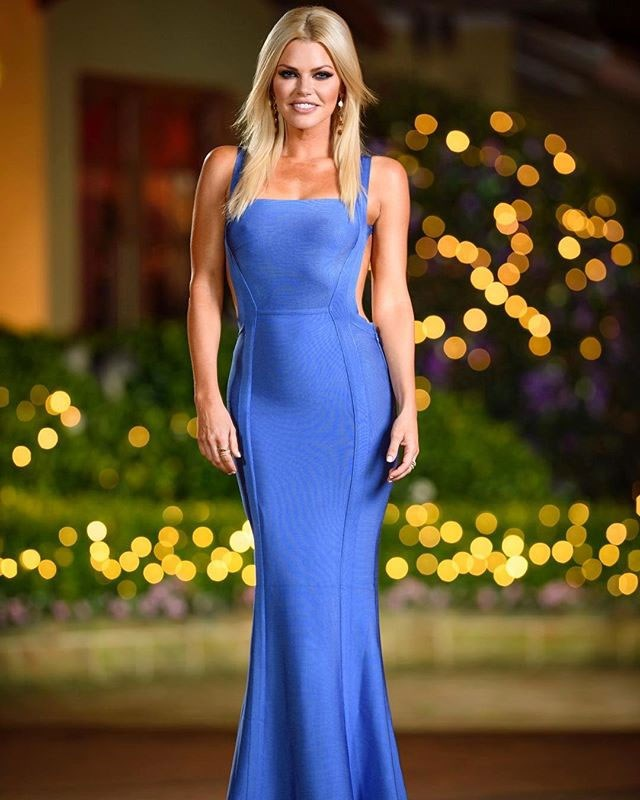 **Ep 2** <br><br> Dress: $301 at [House of CB](https://www.houseofcb.com/ophelia-cornflower-blue-backless-maxi-bandage-dress.html) <br><br> Jewellery: [Accessories by G](https://accessoriesbyg.com/collections/all) <br><br> Shoes (not pictured): Jimmy Choo at [Net-A-Porter](https://www.net-a-porter.com/us/en/Shop/Designers/Jimmy_Choo?pn=1&npp=60&image_view=product&dScroll=0)