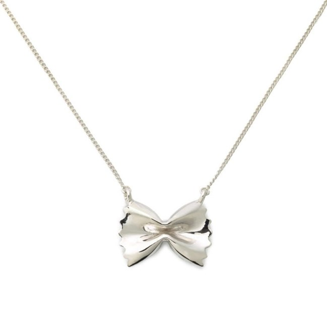 "[Sterling Silver Farfalle Necklace, $109 at DELICACIES JEWELRY](https://delicaciesjewelry.com/shop/al-dente/sterling-silver-farfalle-necklace/|target=""_blank""|rel=""nofollow"")"