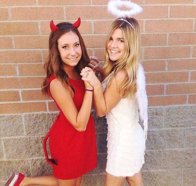 **The Devil & An Angel** <br><br> Image: [Pinterest](https://www.pinterest.co.uk/bethcasserley/devil-costumes/?autologin=true)