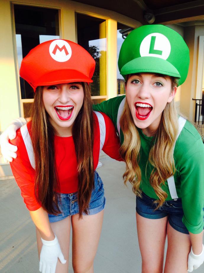 **Mario & Luigi** <br><br> Image: [Pinterest](https://au.pinterest.com/pin/477803841696407028/)