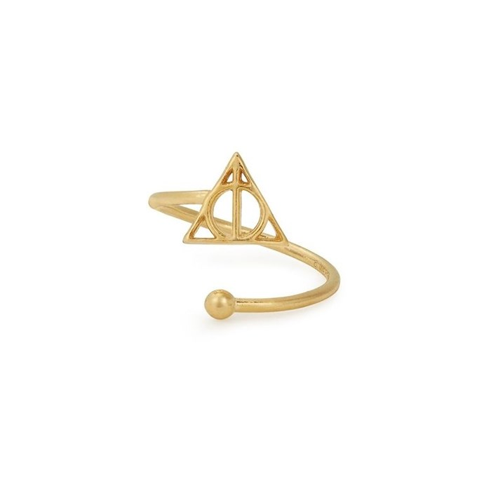 """[Deathly Hallows Ring Wrap, $36 at ALEX AND ANI](http://www.alexandani.com.au/